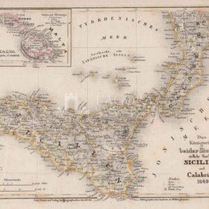 Mappa antica Sicilien und Calabrien