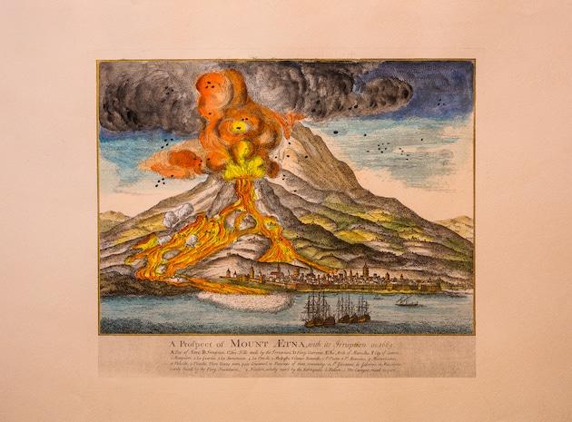 Etna eruzione riproduzione quadrata