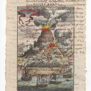 Etna su carta manoscritta