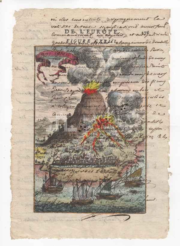 Etna eruzione su carta
