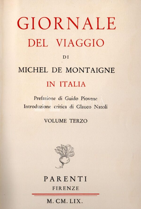 Giornale del Viaggio in Italia