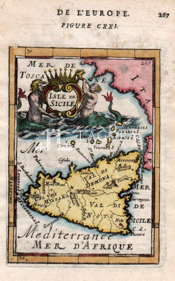 mappa Sicilia Mallet