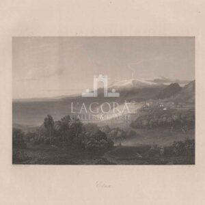 Veduta dell' Etna vista da Taormina