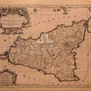 Mappa Sicilia Sanson 1690
