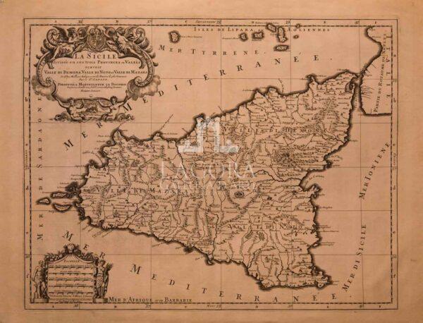 mappa Sicilia Hubert Jaillot