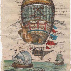 Hot air balloons on manuscript