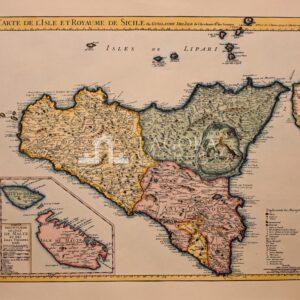 Mappa Sicilia G.De Lisle