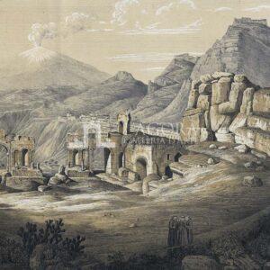 Ruines de Theatre à Taormine, F. Gaertner