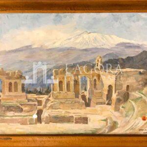 Etna from Taormina di Enid Marjorie Vale