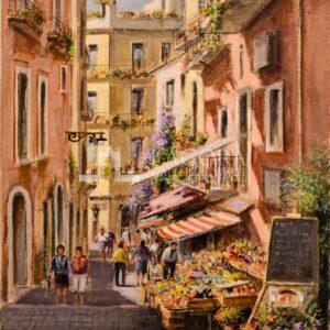 Via Naumachie, Taormina by Mario Irace