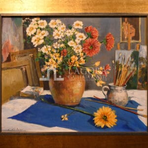 Vase with flowers by Carlo Cordua
