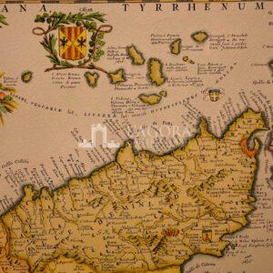 Mappa Sicilia di Vincenzo Coronelli