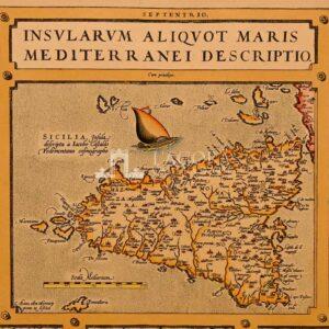 Mappa Sicilia Ortelio