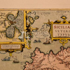 Mappa Sicilia Ortelius Siracusa