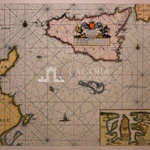 Mappa nautica della Sicilia Keulen