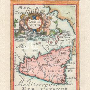 Mappa Sicilia Mallet riprodotta