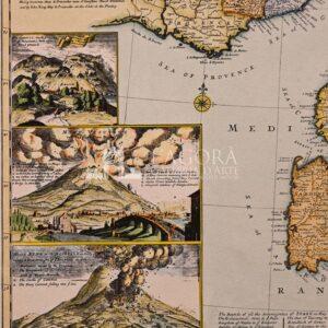 Mappa Italia con Vulcani H. Moll