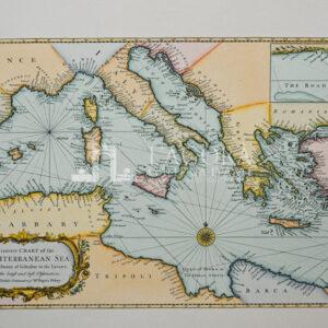 Carta nautica del Mediterraneo