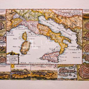 Mappa dell' Italia de La Feuille