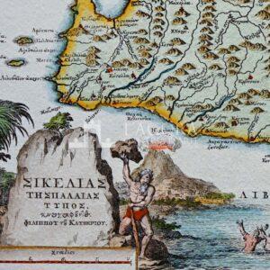 Mappa Sicilia in greco antico