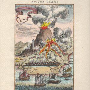 Etna in eruzione riproduzione del Mallet