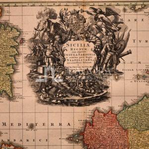 Mappa Sicilia, SEUTTER MATTEUS 1745