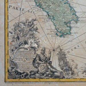 Carta nautica della Sicilia, Sardegna e Corsica, Rizzi Zannoni 1762