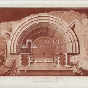 Planimetria del Teatro di Taormina Jean Houël 1