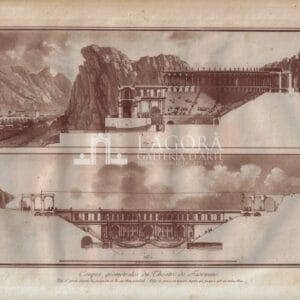 Sezioni geometriche del Teatro di Taormina, Jean Houël