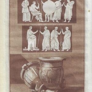 Antico vaso in terracotta, Jean Houël