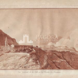 View of Taormina and the Theater by Jean Houël