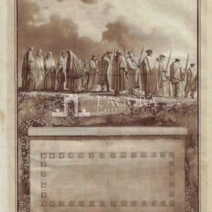 Abitanti di Alcamo e Planimetria del Tempio di Segesta, Jean Houël