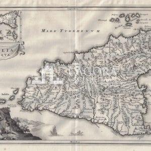 Mappa Sicilia Christopher Cellarius 1703