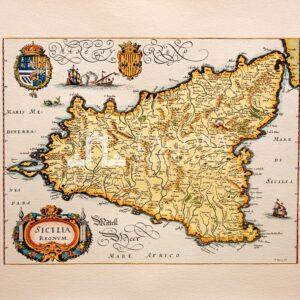 Mappa Sicilia Merian