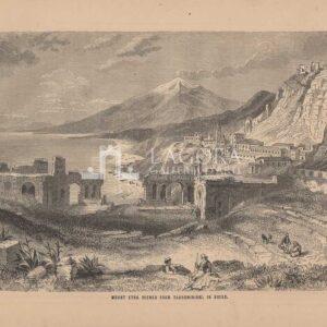 Veduta del Monte Etna da Taormina
