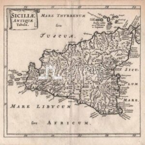 Siciliae Antiquae Tabula – Cluverio – 1661