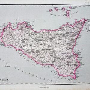 Mappa Sicilia di Francesco Pagnoni