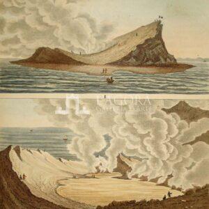 Veduta doppia dell' Isola Ferdinandea, Bertuch