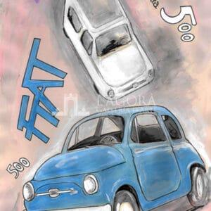 Vintage Sketches Fiat 500 – Giuseppe Bacci