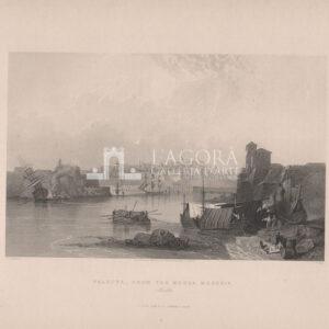 Valletta from the Marsa Musceit, Malta