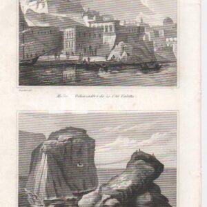 Malta, Imbarcadero della citta Valletta / Pierre du General – Audot