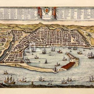 Bird's eye view of the city of Messina (reproduction)